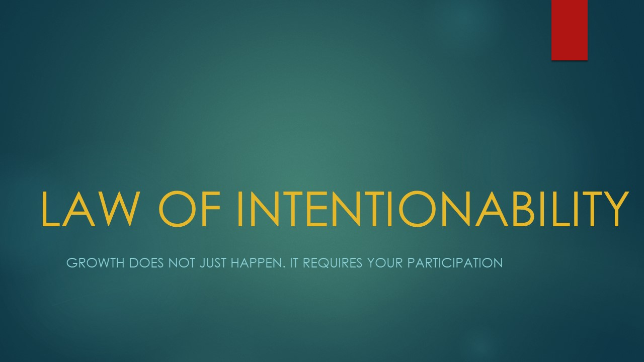 Law of Intentionability