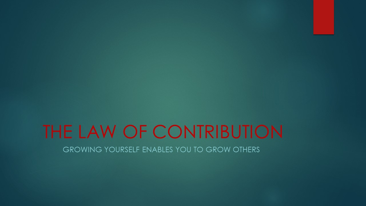 THE LAW OF CONTRIBUTION