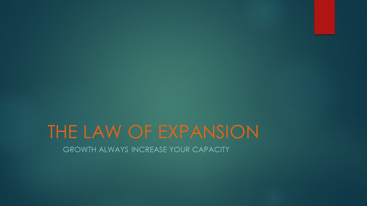 THE LAW OF EXPANSION